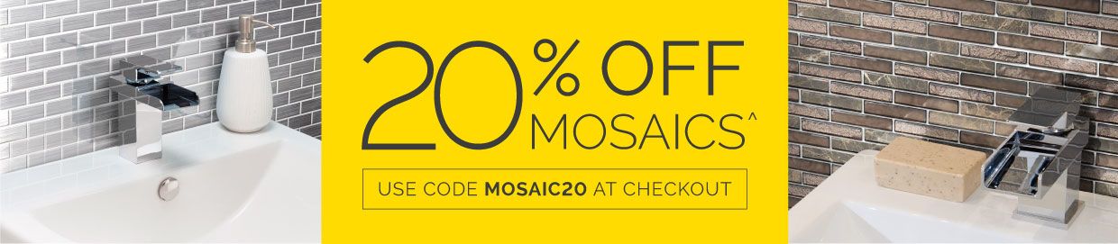 20% off Mosaic tiles with code MOSAIC20