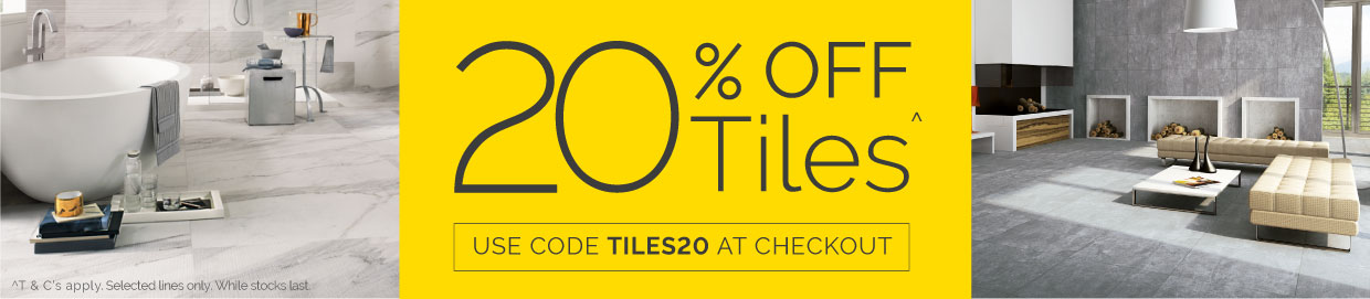 20% off tiles with code TILES20