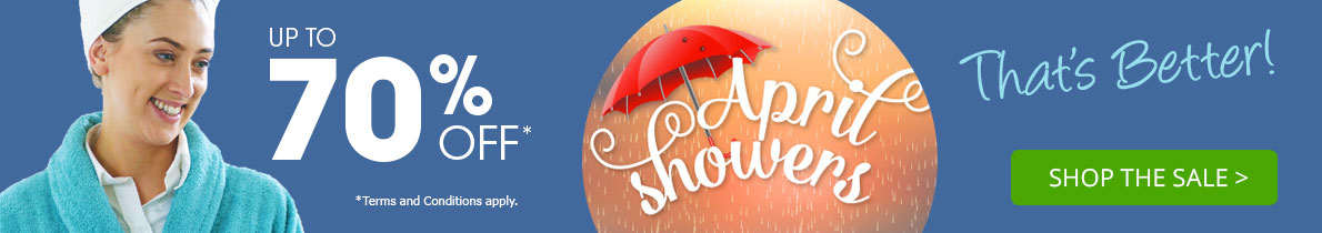 Up to 70% off in our April Showers Sale