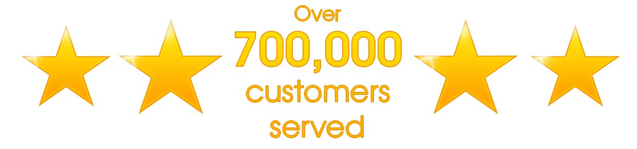Over 700,000 customers served