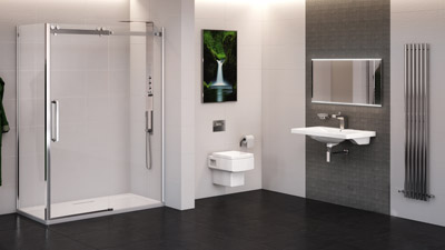 Trinity Brianza Frameless Sliding Shower Complete Bathroom Suite