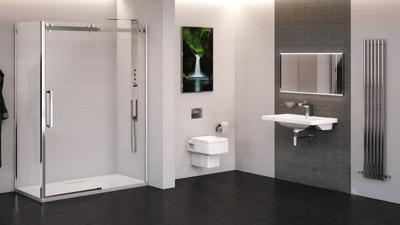 Trinity Brianza Frameless Sliding Shower Complete Bathroom Suite