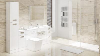Cuba Left Hand Combination Unit with Trinity Wetroom Enclosure Complete Suite