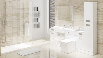 Cuba Right Hand Combination Unit with Trinity Wetroom Enclosure Complete Suite