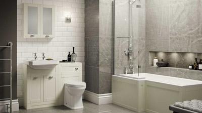 Nottingham Ivory Park Royal Left Hand L Shaped Shower Bath Suite