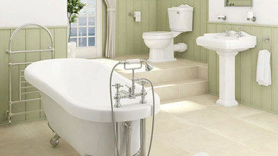 1700 Park Royal Freestanding Slipper Bath Complete Bathroom Suite