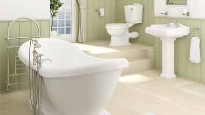 1760 Park Royal™ Boat Freestanding Bath Complete Bathroom Suite
