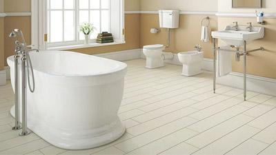Park Royal Freestanding Bath with Low Level Toilet Complete Suite