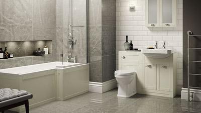 Nottingham Ivory Park Royal Right Hand L Shaped Shower Bath Complete Suite