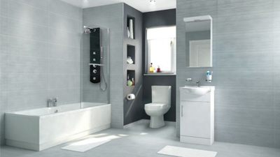 Voss Dee 45 Shower Bath Suite with Vanity Unit
