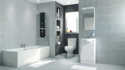 Voss Dee 45 Shower Bath Suite with Vanity Unit