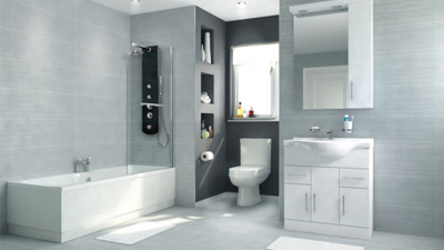 Voss Dee 85 Shower Bath Suite with Vanity Unit
