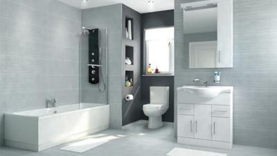 Voss Dee 85 Shower Bath Suite with Vanity Unit