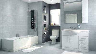 Voss Dee 105 Shower Bath Suite with Vanity Unit