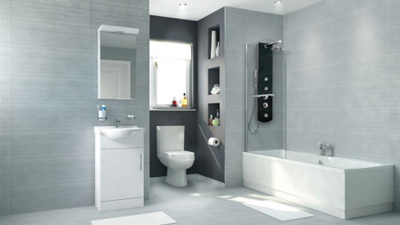 Voss Dee 45 Shower Bath Suite with Vanity Unit LH