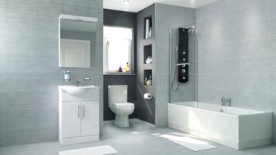 Voss Dee 55 Shower Bath Suite with Vanity Unit LH