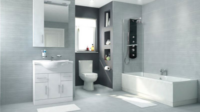 Voss Dee 75 Shower Bath Suite with Vanity Unit LH