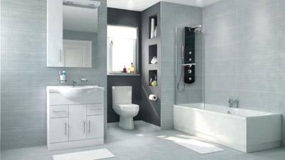 Voss Dee 75 Shower Bath Suite with Vanity Unit LH