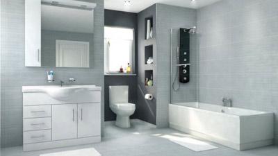 Voss Dee 105 Shower Bath Suite with Vanity Unit LH
