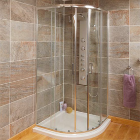 Quadrant Shower Enclosures with Optional Tray