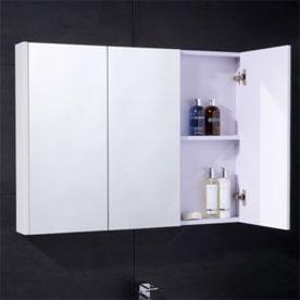 3 Door Mirrored Cabinets