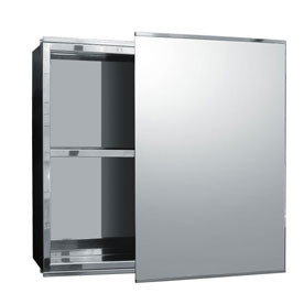 Stainless Steel Mirrored Cabinets