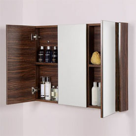 Walnut Mirrored Cabinets