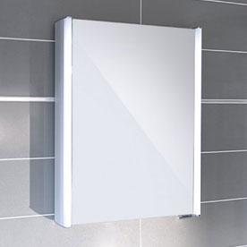 White Mirrored Cabinets