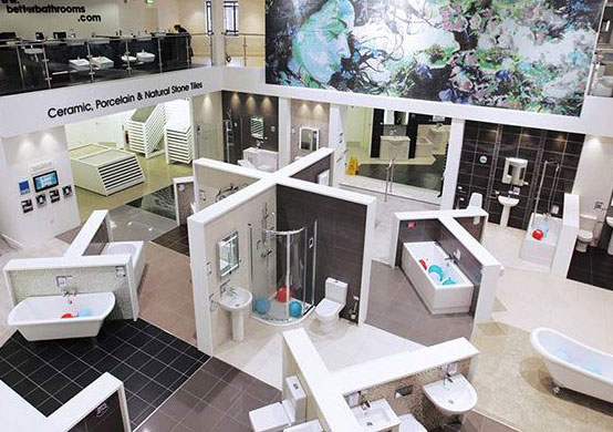 Find Your Nearest Bathroom Showroom Better Bathrooms - Biggest bathroom showroom
