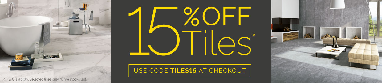 15% off selected Tiles