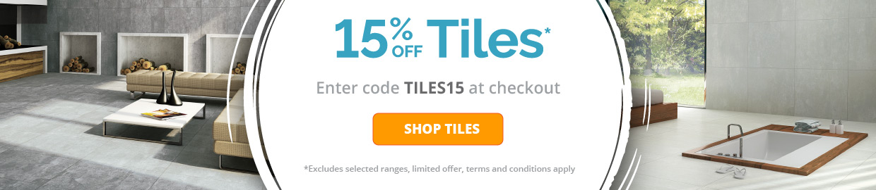 15% off Tiles with Voucher Code
