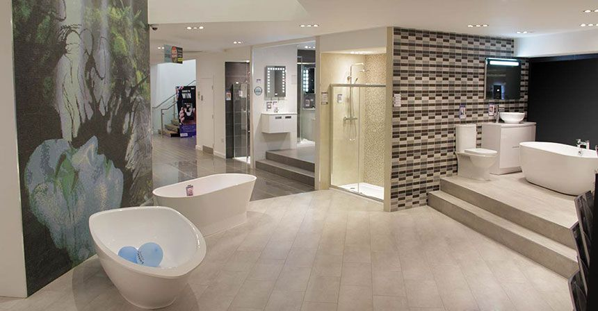 Better bathrooms leicester showroom Bathroom tile stores