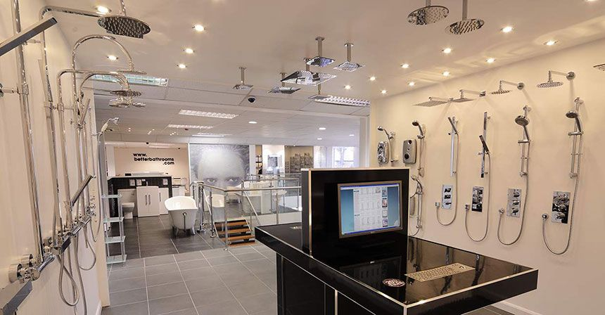 Better bathrooms warrington showroom for Bathroom displays