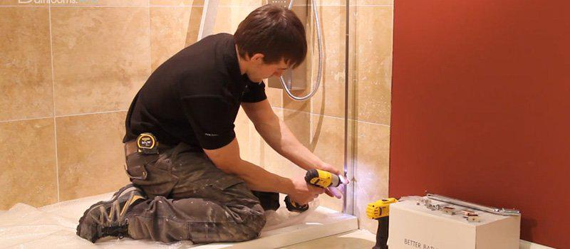 How To Fit a Shower Cubicle - Adding the return panel